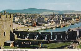 Postcard Peel Castle And Harbour Isle Of Man [ Bamforth ] My Ref  B12402 - Isle Of Man
