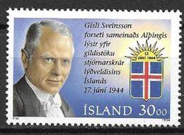 Islande 1994 N° 764 Neuf Président Gisli Sveinsson - 1944-... Republik