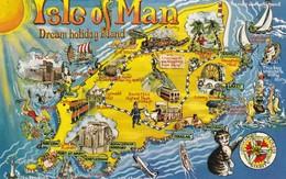 Postcard Isle Of Man Dream Holiday Destination Map Card [ Bamforth ] PU At Douglas In 1972 My Ref  B12403 - Isle Of Man
