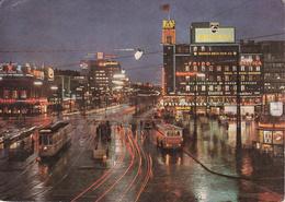 DANIMARCA / DANMARK - Copenaghen / København - The City Hall Square By Night - Bus - Philips - 1961 - Danimarca