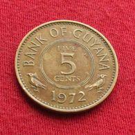 Guyana 5 Cents 1972 KM# 32 Guiana - Guyana