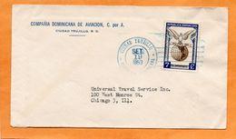Dominican Republic 1953 Cover Mailed - Dominican Republic