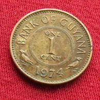 Guyana 1 Cent 1974 KM# 31 Guiana - Guyana
