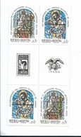 ARGENTINA 1988, SCOTT 1632-33, SAINT CAYETANO, VIRGIN, RELIGION, BLOCK EMBLEM - Argentina