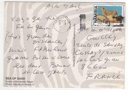 Beau Timbre   Sur Carte , Cp , Postcard Du  30 IX 2002 - Namibie (1990- ...)
