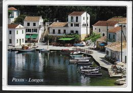 GRECIA - PAXOS - LONGOS - FORMATO GRANDE 17X12 - VIAGGIATA 1995 - Grecia