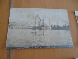 Carte Photo Alger Octobre 1911 L'Escadre Aurora Croiseur Russe - Algiers