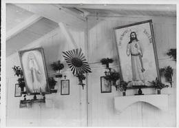 Photo Originale Stalag XIII A. Chapelle Notre Dame De Lagerville. Autel. - Guerre, Militaire