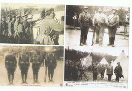 MILITARIA LOT 7 CPA REPRODUCTION  - Tirailleurs Senegalais , Russes Camp Mailly , Generaux Joffre Pau Et De Castelnau - Weltkrieg 1914-18