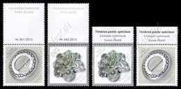 Åland-Svizzera / Åland-Switzerland 2015: 2 Serie Spille Tradizionali / Folk Dress Brooches, 2 Stamp Sets ** - Joint Issues