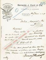 ARGENTINE - BUENOS AIRES 1929 - BERNARDO J. CONTI & Cia. - Fabricantes De Sombreros - Factures & Documents Commerciaux