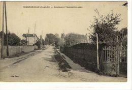 Carte Postale Ancienne Franconville - Boulevard Toussaint Lucas - Franconville