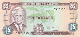Jamaica - 5 Dollars 1 July 1991 - UNC - Jamaique
