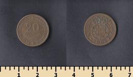 Sao Tome And Principe 20 Centavos 1962 - Sao Tome Et Principe