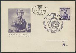 ÖSTERREICH / Karte Mit ANK 895 Und Ersttagsstempel, Sonderstempel Wiener Internationale Herbstmesse Vom 6.9.1948 - 1945-60 Briefe U. Dokumente