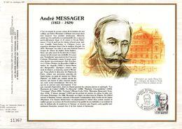 1983 DOCUMENT FDC MUSIQUE ANDRE MESSAGER - Documenten Van De Post