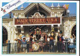 FRANCIA - DISNEYLAND - MAIN STREET STATION - VIAGGIATA 1995 - ANNULLO A TARGHETTA - Disneyland