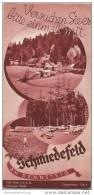 Schmiedefeld Am Rennsteig 1935 - Faltblatt Mit 10 Abbildungen - Reiseprospekte