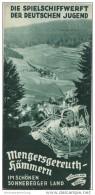 Mengersgereuth-Hämmern 1936 - Faltblatt Mit 6 Abbildungen - Beiliegend Wohnungsliste - Reiseprospekte