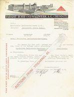Brief 1937 CHEMNITZ - FARADIT ROHR UND WALZWERK - Germany