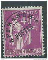 France  Préoblitéré N° 70 XX  Type Paix : 40 C. Lilas, Sans Charnière TB - Precancels