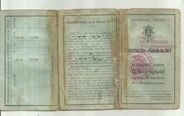 Kaart Van Eenzelvigheid Vluchteling Stad Antwerpen Naar Heist Naan Zee,  Oorlog 1940 - Historische Documenten