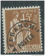 France  Préoblitéré N° 71 XX  Type Paix : 45 C.bistre, Sans Charnière TB - Precancels
