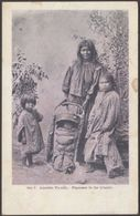 Apache Family, Papoose In Its Cradle, C.1905 - U/B Postcard - Native Americans