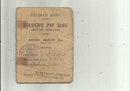 Belgian Army- Soldiers Pay Book , 1945 - Historische Documenten