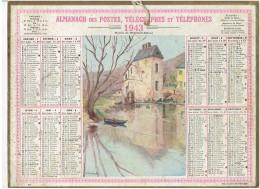 CALENDRIER - ALMANACH POSTES Et TELEGRAPHES 1943 - Moulin NOGENT LE RETROU - KINALDI - Grand Format : 1921-40