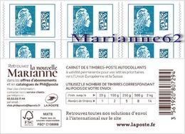 "France 2018 Carnet Marianne L'engagée Tarif Europe - "" La Nouvelle Marianne "" - MHN Neuf - Carnets"