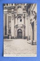 Cartolina Napoli - Collegio Militare - Ingresso E Portale Della Chiesa - 1925 Ca - L'Aquila