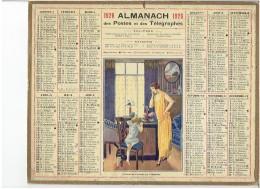 CALENDRIER - ALMANACH POSTES Et TELEGRAPHES 1926 - Un Brin De Causette Au Téléphone - Chat - Sans Feuillet Au Dos - Grand Format : 1921-40