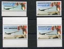 RC 9798 CONCORDE 4 VIGNETTES AIR FRANCE DONT VOL PRÉSIDENTIEL NEUF ** - Concorde