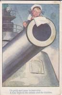 UN PETIT MOT POUR LA MARRAINE--( Humoristique Marine Mousse )--voir 2 Scans - Cartes Humoristiques
