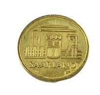 10 Francs - Sarre -  Allemagne -   1954 -  Cu . Alu - TB+ - - [ 8] Saarland