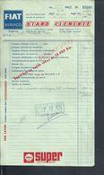 PORTUGAL FACTURE STAND CLEMENTE FIAT PORTO 1972 PUB SUPER SHELL OILS  : - Portugal
