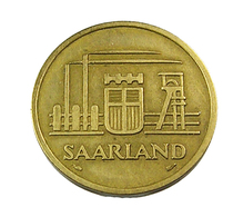 50 Francs - Sarre -  Allemagne -   1954 -  Cu . Alu - TB+ - - [ 8] Saarland