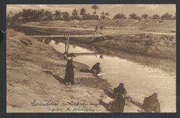 +++ CPA - Afrique - EGYPTE - Lavandières Au Bord D'un Canal - Région HELIOPOLIS - Nels   // - Le Caire