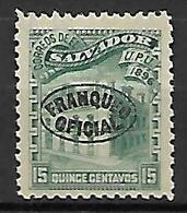 SALVADOR   -   Service  /  Oficial  -   1896 .  Y&T N° 58 * - El Salvador