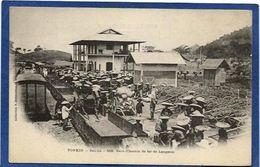 CPA Tonkin Indochine Asie Types Ethnic Bac Lé Chemin De Fer Gare Train Non Circulé - Viêt-Nam
