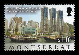 Montserrat Fishing Village Shanghai Hong Kong Island China 1v Stamp MNH - Non Classificati