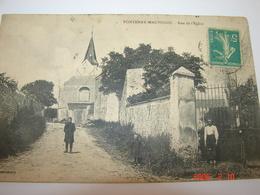 C.P.A.- Fontenay Mauvoisin (78) - Rue De L'Eglise - 1914 - SUP (AP 73) - France