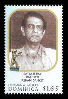 Dominica Satyajit Ray Cinema Kolkata Music Composer 1v Stamp MNH - Non Classificati