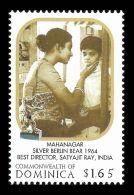 Dominica Mahanagar Silver Berlin Bear Satyajit Ray Music Composer 1v Stamp MNH - Non Classificati
