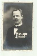Militair België - Medailles   - Fotokaart - Personen