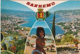 E177 SAN REMO - VUE GENERALE ET FEMME AUX SEINS NUS - San Remo