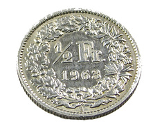 1/2 Franc - Suisse - 1963 -  Argent  - TB+  - - Suiza