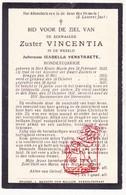 DP 100 Honderdjarige - EZ Isabella Verstraete - Zr. Vincentia ° Male St.-Kruis Brugge 1832 † 1931 Klooster Zw. Zusters - Images Religieuses