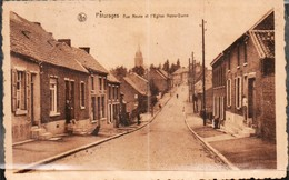 Paturages Rue Neuve Et L Eglise Notre Dame - Otros
